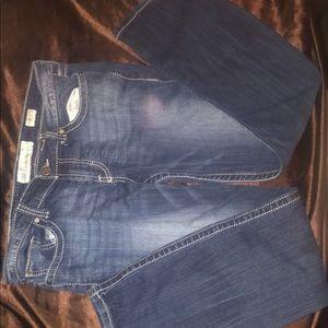 BKE Sabrina style boot cut blue jeans
